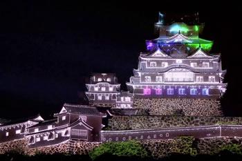 3Dプロジェクションマッピングショー<br>姫路光絵巻『HAKUA』-新たなる羽ばたき-
