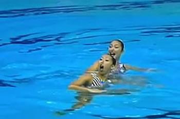 2001年 世界水泳福岡大会<br>デュエットFR「小劇場」